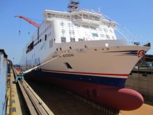 Stena Line's second next generation ferry Stena Edda 'floats out' in China