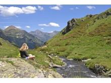 Jente i fjellet i Andorra