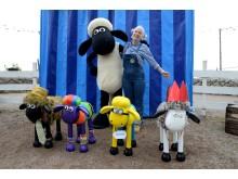 Fåret Shaun har fått egendesignade skulpturer av skolklasser i Skåne