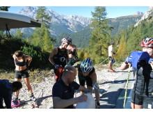 Svenska skidlandslagets Team 2015 på träningsläger i Italienska alperna.