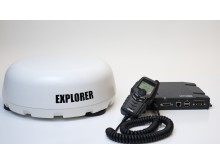 Hi-res image - Cobham SATCOM - EXPLORER 325 Antenna and Push-To-Talk Unit