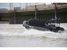 Firearms Officers on boat