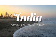 India eksotisk jul og nyttårsfeiring i Goa