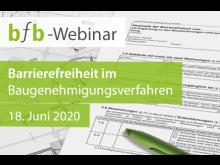 Das bfb-Webinar gibt einen Einblick in die Genehmigungspraxis von barrierefreien Bauvorhaben.