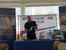 High res image - Sika Limited - Gareth Ross at Scotland Boat Show 2016