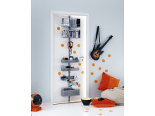 Elfa Utility Door and Wall rack i platinum