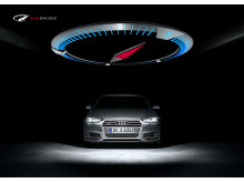 Audi is once again displaying bold exhibition architecture at the IAA International Motor Show placing the A4 in its center