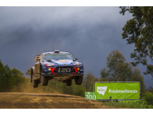 Dubbla pallplatser i Rally Australia för Hyundai Motorsport.