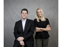 Malte Andreasson och Stina Honkamaa Bergfors
