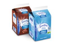 Abbildungen: Packungen Schulmilch und Kakao
