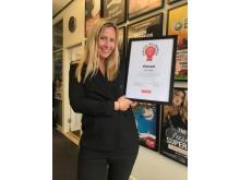 Maja Thomhave med diplom från Digital PR Awards