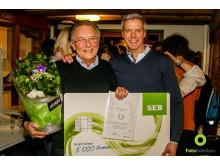 Miljönätverkets miljöprisutdelning i Linköping som förra årets miljöprisvinnare  SundaHus överlämnade sin vinstsumma till Friluftsfrämjandet Finspång