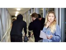 Katarina Sundman på filminspelning
