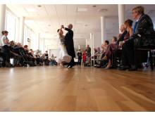 Der blev fulgt opmærksomt med fra sidelinjen, da de erfarne dansere fra Frederiksberg indtog dansegulvet