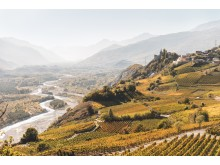 Wallis: Blick auf Varen und das Rhonetal