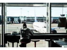 Resenär vid Stockolm Arlanda Airport