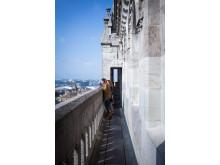 Auf dem Dach der Kathedrale St. Peter