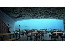 Das Unterwasser-Restaurant bietet Platz für 80-100 Gäste.