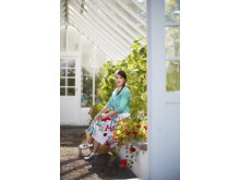 Rachel Khoo i växthus