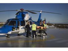 Luftburen intensivvård (helikopter på plattan)