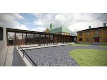 Planerad tillbyggnad Geschwornergården, Falu Gruva