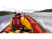 Image - Ocean Signal - Loch Ness RNLI head out to rescue the stranded paddleboarder in September.