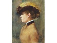 Gurlitt-Ausstellung. Jean-Louis Forain: Dame im Profil.