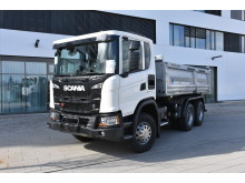 Scania G 450 XT mit Meiller Dreiseitenkipper