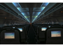 Hekla Aurora - Interiøret er lyssatt med LED-lys som imiterer nordlyset.
