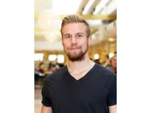 Simon Andersson, student på programmet Civilingenjör: Energi- och miljöteknik
