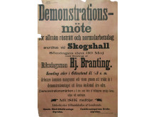 Demonstrationsaffisch från 1897