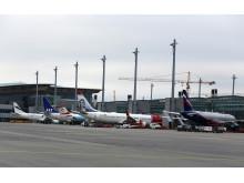 Fly ved gate - Oslo Lufthavn