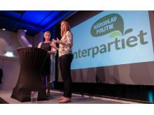 Centerpartiets partiledare, Annie Lööf höll tal på Stora Nolia.