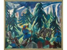 Lapper arbejder med Rener 1943, Emilie Demant Hatt