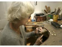 Edda Raspé in ihrem Atelier in Morsum