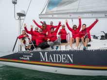 HI-res image - Inmarsat - The crew on-board Maiden are benefiting from reliable satellite communications provided by Connectivity Partner Inmarsat during their global tour ©The Maiden Factor/Kaia Bint Savage