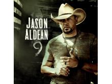 """Jason Aldean. Album cover """"9""""."""