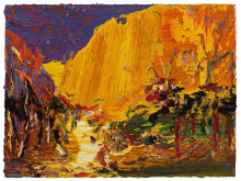 Yin Zhaoyang,  Songshan mountain autumn, 60 x 80 cm, olja på duk,  2018