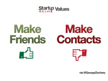 Make friends not contact - Startup Grind Values