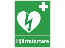 Symbolen för hjärtstartare