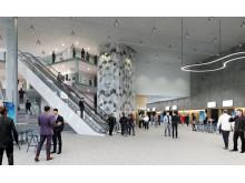 Åbymässans entréhall, färdig i januari 2019