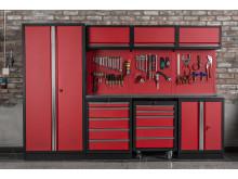 Snygg och praktisk inredning för garaget