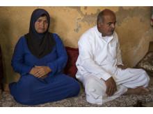 Familjen flydde undan IS våld
