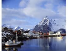 Bateaux de pêche aux Iles Lofoten