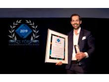 Erikssons Glas i Norrköping AB utses till Årets företag i glasbranschen 2019