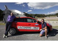 Knut Wilthil og Henrik Borchgrevink satte verdensrekord i økonomikjøeing med Ford Focus med den prisbelønte 1.0-liters EcoBoost-motoren