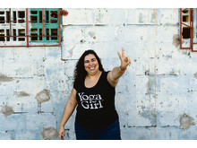 Yoga Girl Moon t-shirt black