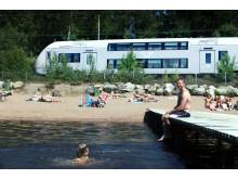 SJs regionaltåg vid badbrygga