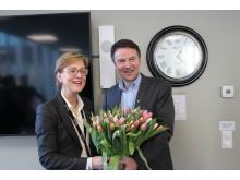 Sigrid Hjørnegård og Lars Petter Bartnes