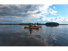 Kajak på sjön Åsnen